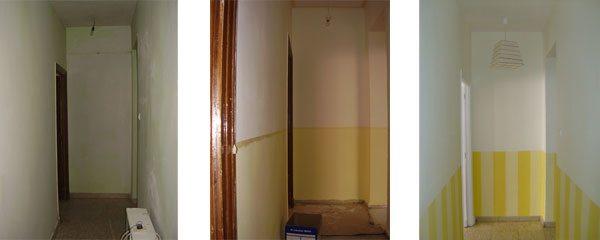 ventana pasillo principal pasillo corto