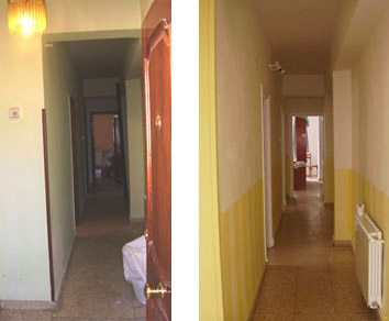 C mo pintar un pasillo oscuro para que sea m s luminoso treinta y diario de una treinta era - Pintar pasillo largo ...