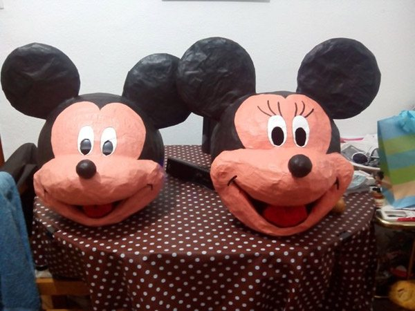 disfraz casero de mickey mouse y minnie mouse