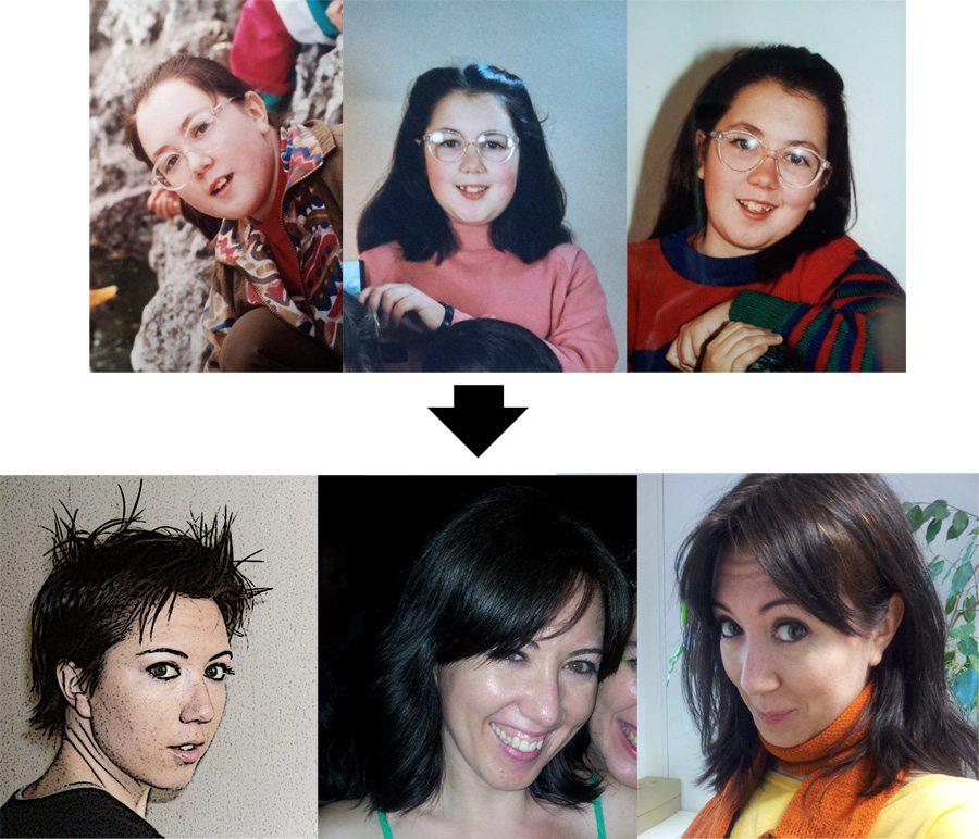 evolucion-sandra adolescente fea