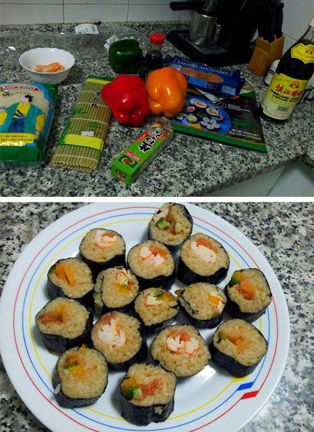 C mo hacer sushi casero treinta y diario de una for Cocinar tintorera