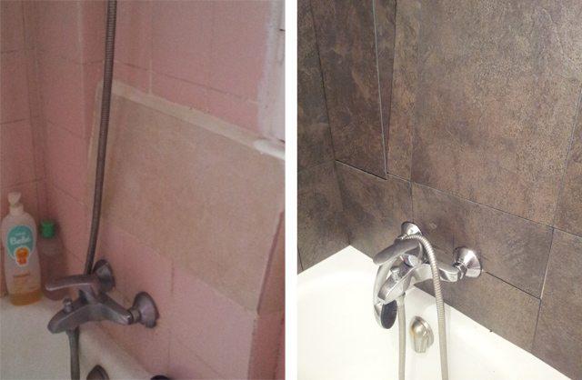 renovar el baño con losetas vinílicas - hogar treinta y... - Ideas Para Decorar Un Bano Sin Obras