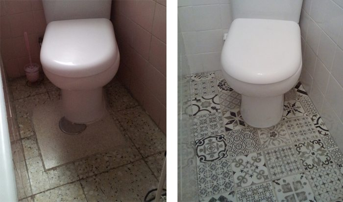Renovar el suelo del baño por menos de 100 euros - Hogar ...