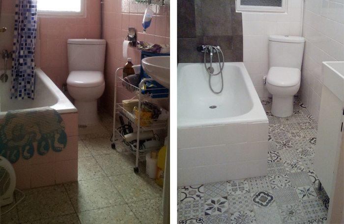 Reforma Baño Con Vinilo:Si quieres también puedes ver la reforma completa del baño una vez