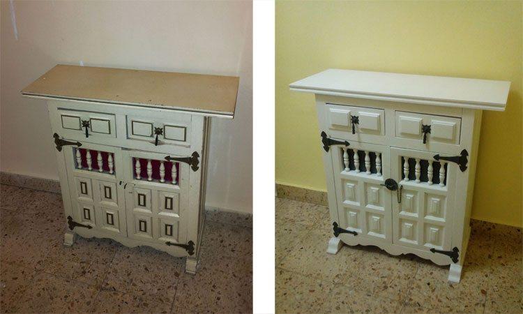 Renovar un viejo mueble d ndole un toque oriental - Renovar muebles antiguos ...