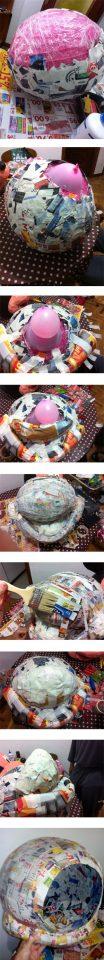 como hacer la estructura-de-la-cabeza-para-el-disfraz-de-mickey-mouse-casero
