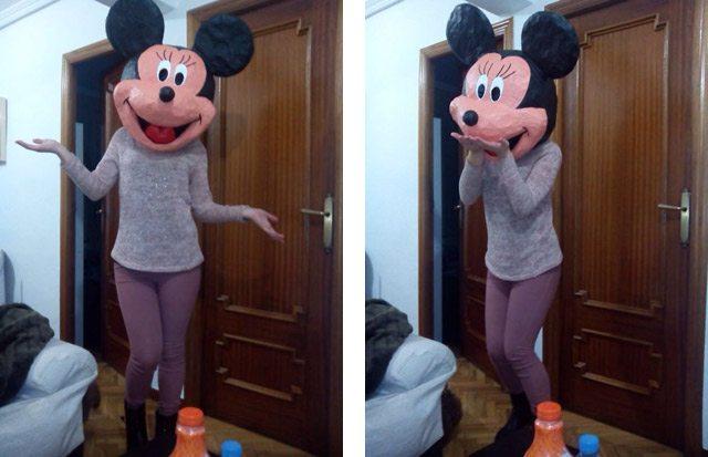disfraz casero de Minnie para carnaval