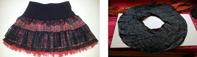 falda disfraz cabaretera
