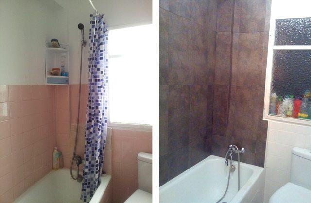 Azulejos para duchas de obra gallery of decoracion bao - Cubrir azulejos sin obra ...